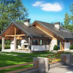 Projekt domu z poddaszem użytkowym